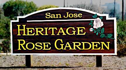 Heritage Rose Garden sign